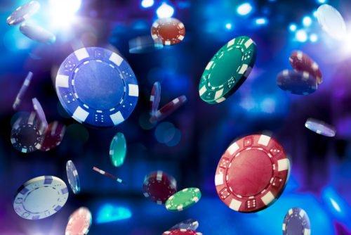 Casino chips Background